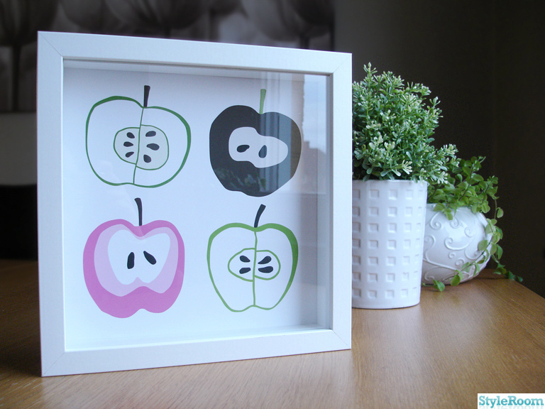 illustration,ikea,tavla,tryck,apple