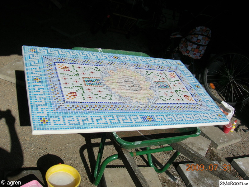 mosaikbord,solros