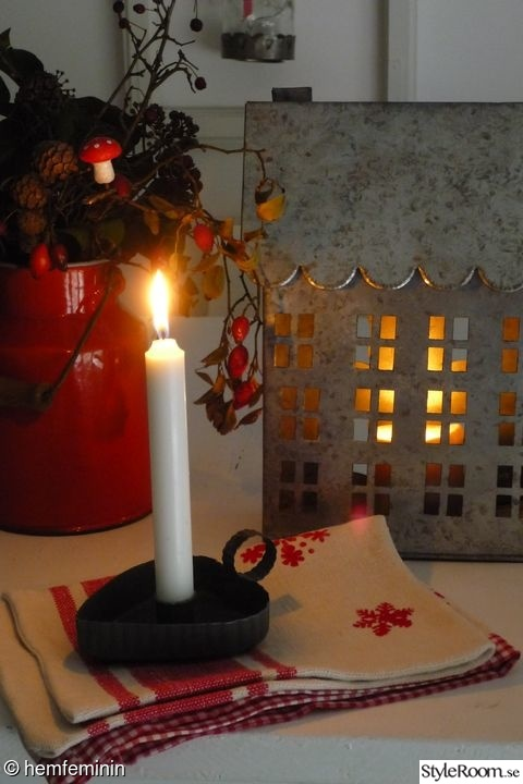 advent,jul,röd,zinkhus,ljusstake