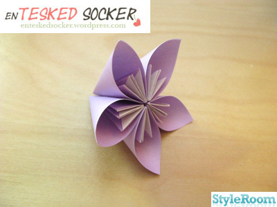 origami,pappersblomma,origamiblomma