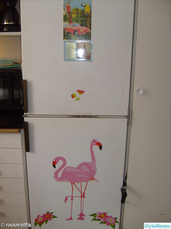kitsch,flamingo,kök