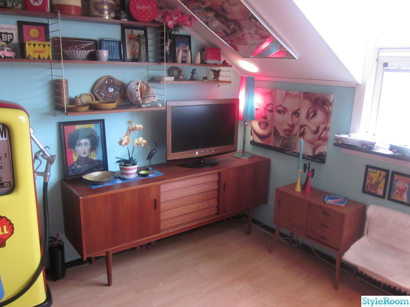 turkost,50-tal,sideboard,retro,tv