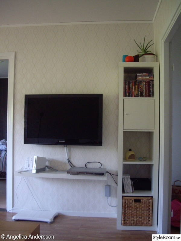 ikea,lack,expedit,tv-möbel,vägg-tv