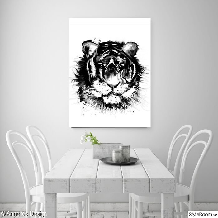 tiger,konsttryck,50x70 tavla,poster,posters