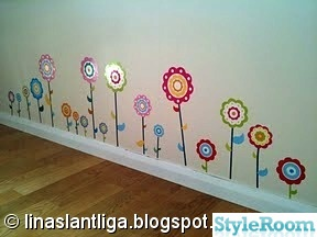 wallies,blommor,wallstickers