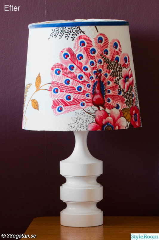 retro,påfågel,diy,remake,diy lampa