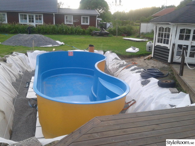 pool,poolbygge,lusthus,dränering,glasfiberpool