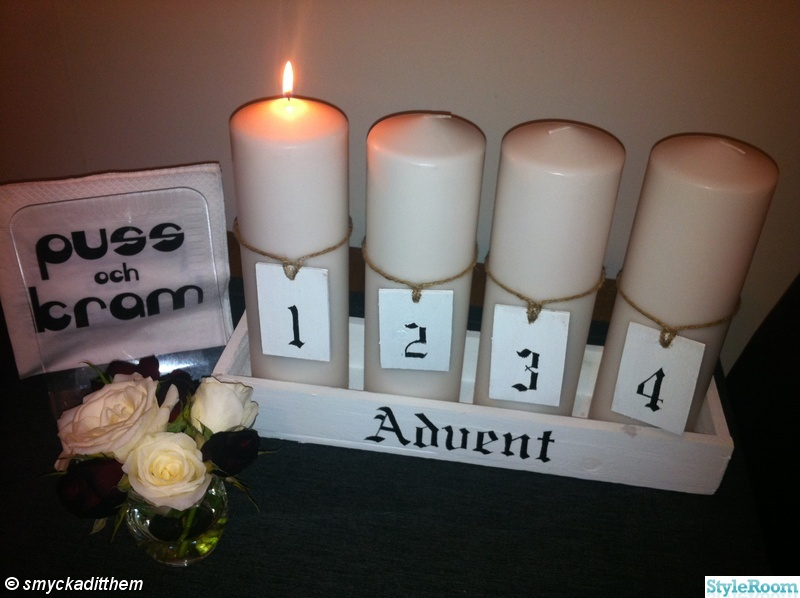 advent,jul,shabby chic,adventsljusstake/siffror