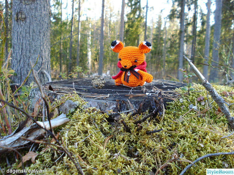 röd,orange,virkat,räv,amigurumi