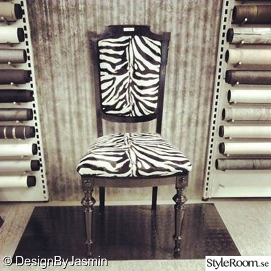 stol,zebra,möbelrenovering,diy,do-it-yourself