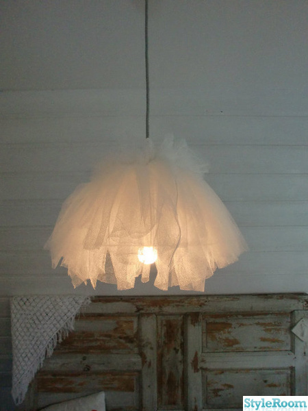 tyll,lampa,diy,diy lampa,do-it-yourself