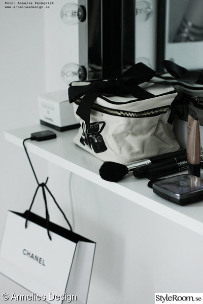 annelies design,bag all,beauty box,sminkhörna,walk in closet