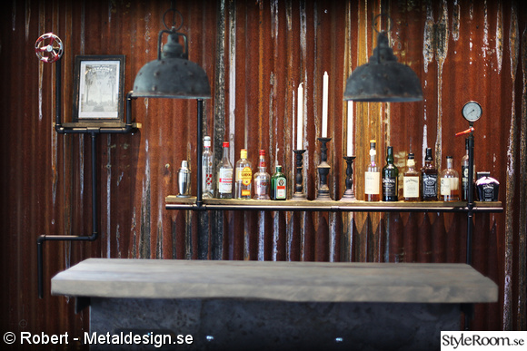 bar,vardagsrum,industridesign,bardisk,rörhylla