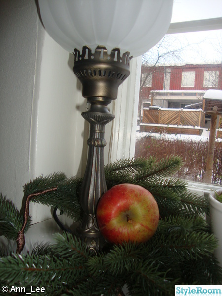 jul,granris,apple,antik lampa