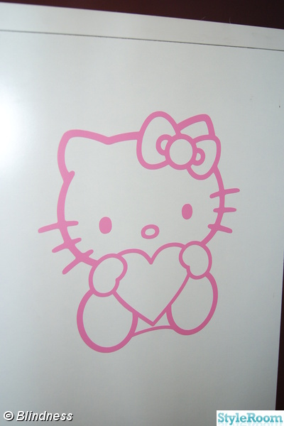 hello kitty,väggdesign