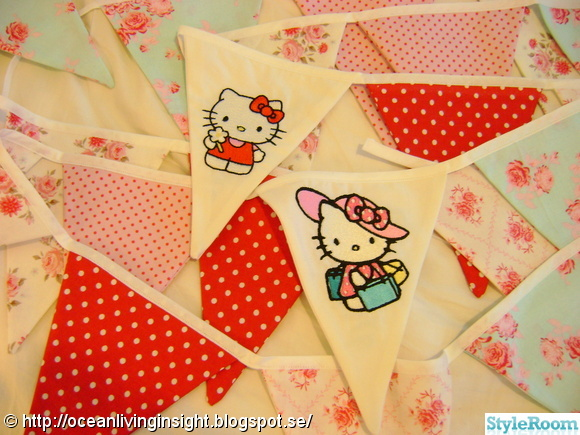 barnrum,vimpel,hello kitty,vimplar,broderi