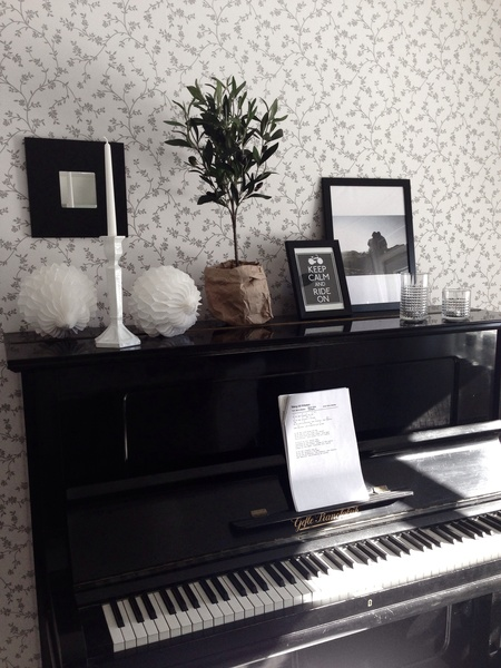 stilleben,piano,prints,papperspåse,olivträd