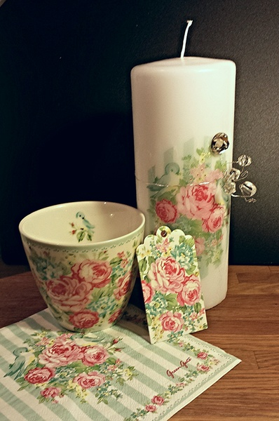 greengate,decoupage,ljus