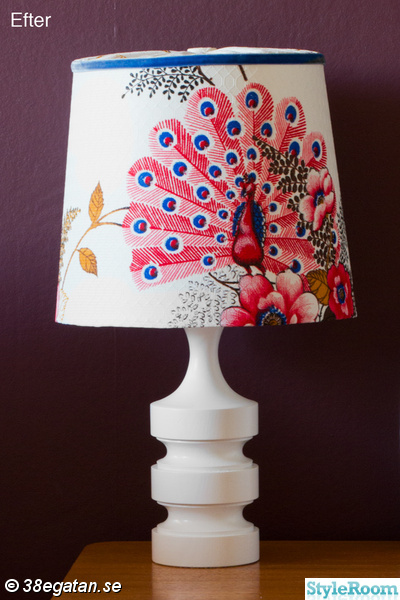 retro,påfågel,remake,diy,diy lampa