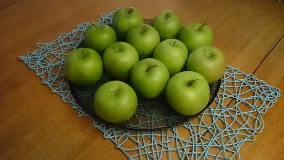äpplen,granny smith,frukt,dekoration,fruktfat