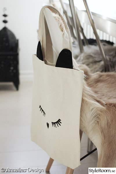 annelies design,webbutik,bag all,cat ear tote,tygpåse