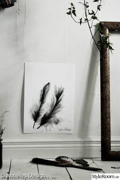 artprint,two feathers,fjädrar,tavla,illustration