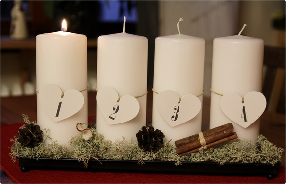 advent,ljus,blockljus,kök,adventljusstake