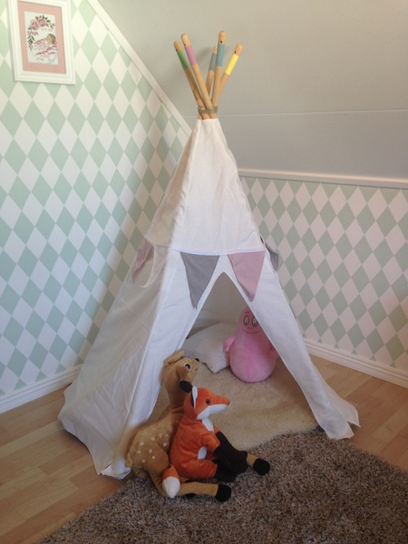 #teepee,#barntält,#diy,diy,do-it-yourself